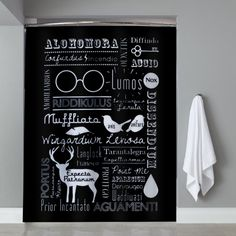 Harry Potter Spells Cover Shower Curtain