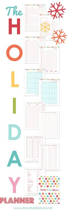 The Holiday Planner by A Bowl Full of Lemons, a perfect way to get a head start on organizing your holidays and planning ahead for gifts, parties, meals, etc.