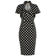 'Zsa Zsa' Black White Polka Wiggle Dress