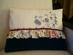 rosa e chocolate: 3 patch pillows