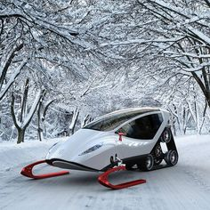 It's like a snowmobile, except less wind-in-the-face-ier.
