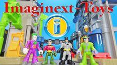 Imaginext-Toys Gotham City Center Batman Robin vs. Joker Riddler Stop Mo...