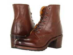 Frye Sabrina 6G Lace Up Burnt Red Soft Pebbled Full Grain - Zappos.com Free Shipping BOTH Ways