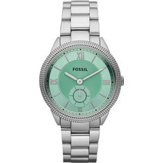 Fossil 'Sydney' Colored Dial Bracelet Watch found on Polyvore