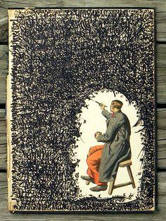 Love this work by Federico Hurtado - art journal inspiration! Art Journal Pages, Art Journals, Journal Ideas, Journal Prompts, Kunstjournal Inspiration, Sketchbook Inspiration, Art Sketches, Art Drawings, Drawing Art