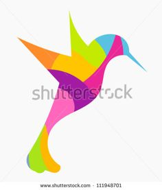Abstract Colorful Hummingbird - Vector Illustration - 111948701 ...