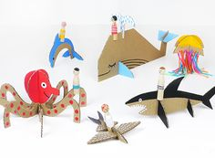 Peg Dolls Sea Adventure -  Peg Dolls are back and they are going to the sea! Make fun cardboard sea creatures with these simple templates.