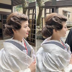 Dress Hairstyles, Wedding Hairstyles, Up Styles, Hair Styles, Finger Waves, Prom Makeup, Japanese Kimono, How To Make Hair, New Hair