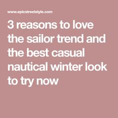 Why you need the sailor trend in your life and how to build the best casual sailor look for winter featuring the Tommy Hilfiger x Gigi sailor hat. Winter Looks, Sailor, Nautical, Hacks, Good Things, Make It Yourself, Casual, Fashion Tips, Style