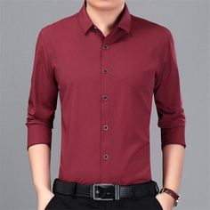 Covrlge Shirt Men 2018 Spring New Long Sleeve Non Iron Shirts Plus Size Mens Dress Shirts Solid Slim Fit Male Work Shirt Non Iron Shirts, Men Dress, Shirt Dress, Trench Coat Men, Plus Size Men, Spring Shirts, Spring New, Work Shirts, Mens Clothing Styles