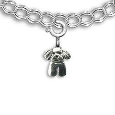 Such a cute Maltese dog charm bracelet for Maltese lovers...