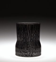 by Vladimir Kopecky, 1964 Cut Glass, Glass Art, Bohemia Glass, Corning Museum Of Glass, Kiln Formed Glass, Sandblasted Glass, Glass Etching, Black Glass, Vases