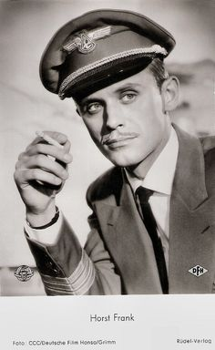 https://flic.kr/p/Sbqs7S | Horst Frank in Abschied von den Wolken (1959) | German postcard by Rüdel-Verlag, Hamburg-Bergedorff, no. 2866. Photo: CCC / Deutsche Film Hansa / Grimm. Publicity still for Abschied von den Wolken/Rebel Flight to Cuba (Gottfried Reinhardt, 1959).  German film actor Horst Frank (1929–1999) appeared in more than 100 films between 1955 and 1999. During the 1960s he was the blond, steely-eyed bad guy of of countless Spaghetti Westerns and Eurospy films.