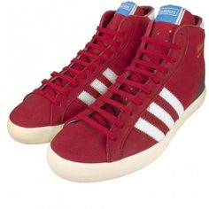 new style ad8f8 48294 Adidas High Top Basket Profi OG Trainers Red