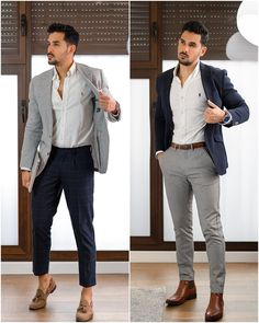 Blazer Outfits Casual, Mens Dress Outfits, Stylish Mens Outfits, Men Dress, Formal Dresses For Men, Formal Shirts For Men, Mens Fashion Blazer, Mens Fashion Week, Blazers For Men Casual