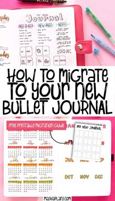 Migrating to your new Bullet Journal might sound difficult, but it's actually an easy and fun process. Let me help you to successfully migrate to your new Bullet Journal. My best Bullet Journal tips and step by step tutorials on how to seamlessly start your new journal. #mashaplans #migration #bulletjournal #bujo #journalinglove