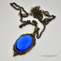 the Princess Sapphire pendant jewelry necklace by TartanHearts