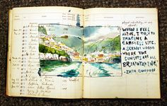 from Sketchbuch flickr stream. love how it's right over the ledger paper and you can see it through the watercolor