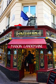 The rue des Martyrs in the 9th, great street for foodies. Try the tarte fine aux abricots from Landemaine.