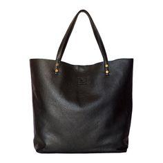 Black Tote Tasche Leder Shopper Tasche Leder von AlanaHandBags