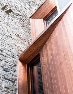 Gianluca Gelmini's Attentive Restoration of the Medieval Torre Del Borgo in Bergamo Facade Architecture, Contemporary Architecture, Medieval Tower, Medieval Fortress, Iron Staircase, Metal Cladding, Facade Design, Windows And Doors, Restoration