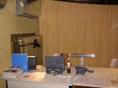 """Unsere 1.provisorische """"Kassa""""! Damals noch im Saal! Foto vom 3.12.2010. Desk, Curtains, Furniture, Home Decor, Photos, Remember This, Blinds, Table Desk, Interior Design"""