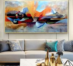 Wall Pictures, Living Room Pictures, Oil Painting Abstract, Abstract Wall Art, Nordic Art, Modern Wall Art, Picture Wall, Canvas Wall Art, Scandinavian