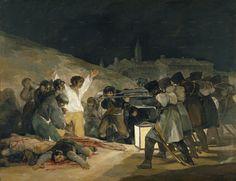 Pablo Picasso, Massacre en Corée,  Vallauris, 18 janvier 1951     El Tres de Mayo  est une huile sur toile,  réalisée par Francisco Goya en 1814  L'Exécution de Maximilien Édouard Manet   1867