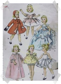 SEWING pattern for Sweet Sue doll or similar 18 doll  by carolrosa, $3.25