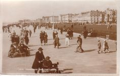Postcard of Hove Lawns, date unknown
