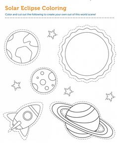 Eclipse Coloring Pages Universe Themes | Educative Printable Helix Nebula, Orion Nebula, Andromeda Galaxy, Types Of Eclipse, Galaxies, Nebulas, Moon Circle, Nasa Goddard, Carina Nebula