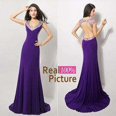 Discount Sexy Mermaid Crystal Prom Party Dresses with Backless 2015 IN STOCK Scoop Beaded Cap Sleeve Formal Evening Gowns Dresses for Women 2014 Online with $122.94/Piece | DHgate