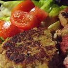 Fish Friday Tuna Burgers Recipe - Allrecipes.com - add chopped tomatoes to keep it moist/add veggies.  Tastes almost like a crab cake