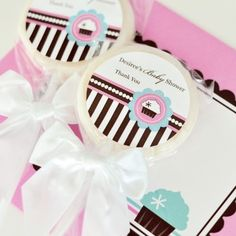 Personalized Lollipop Favors  Cupcake Party  Total 48 items >>> See this great product. (This is an affiliate link)