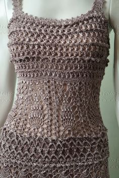 Miss Flor Croche: vestidos Can see the stitch details very good on this pattern.
