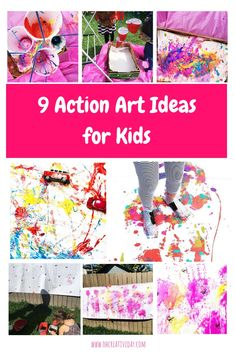 We love getting creative here as a chance to connect and calm the farm. But, sometimes, our making and creating is big. And action-packed. Here are 10 of our favourite action art ideas for kids. Action Games For Kids, Art Activities For Toddlers, Creative Activities For Kids, Preschool Activities, Motor Activities, Painting Activities, Toddler Crafts, Crafts For Kids, Cardboard Crafts