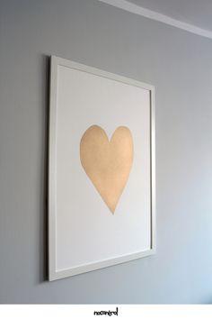 Prezent na Walentynki dla Niej Plakat - 50x70 cm - Serce - Miłość - Love - nocontrolprints - Ozdoby na ścianę