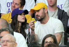 Megan Fox and that guy watching a Lakers game.