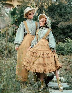 ZJ Story -Little Blanca- Vintage Classic Lolita Skirt Salopette Harajuku Mode, Harajuku Fashion, Kawaii Fashion, Lolita Fashion, Cute Fashion, Fashion Outfits, Rock Fashion, Fashion Boots, Vintage Outfits
