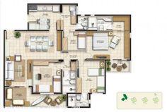 Ground Floor Plan, Floor Plans, Flooring, How To Plan, Home Decor, Arquitetura, City, Fortaleza, Apartments