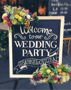 自作のウェルカムボードとタブロー Wedding Welcome Board, Welcome Boards, Wedding Crafts, Diy Wedding, Wedding Flowers, Wedding List, Wedding Notes, Crazy Wedding, Botanical Wedding