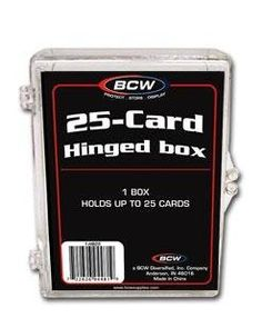 UK Golf Gear - BCW Hinged Box 25 Count - Baseball, Football, Basketball, Hockey, Golf, Single Sports Cards Top Load - Sportcards Card Collecting Supplies by BCW