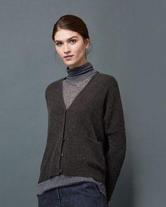 Women's Boxy Cashmere Wool Cardigan