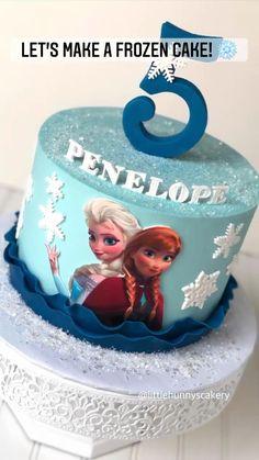 Elsa Birthday Cake, Frozen Themed Birthday Cake, Frozen Theme Cake, Themed Cakes, Frozen Cupcake Toppers, Frozen Cake Topper, Fondant Cake Toppers, Cake Decorating Frosting, Cake Decorating Kits