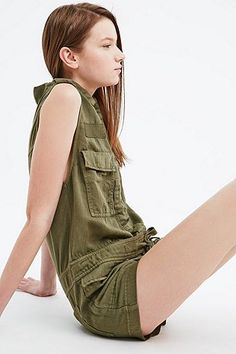 Ecote - Combishort Croft vert - Urban Outfitters