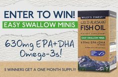 Win #FREE products!! #fishoil #Omega3s #freesamples #freebies #minis