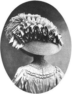 Edwardian fashion (millinery): Foutanne paris hats 1908