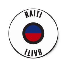 #simple - #Haiti Flag Simple Classic Round Sticker