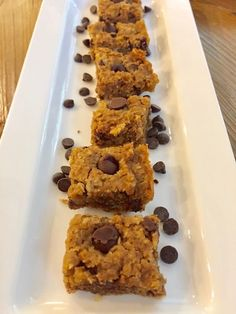 CHOCOLATE CHIP PUMPKIN BLONDIES - Edible Musings