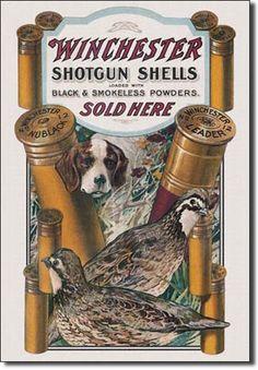 Vintage Style Tin Sign, Winchester shotgun shells sold here, man cave, USA, garage decor, wall hanging